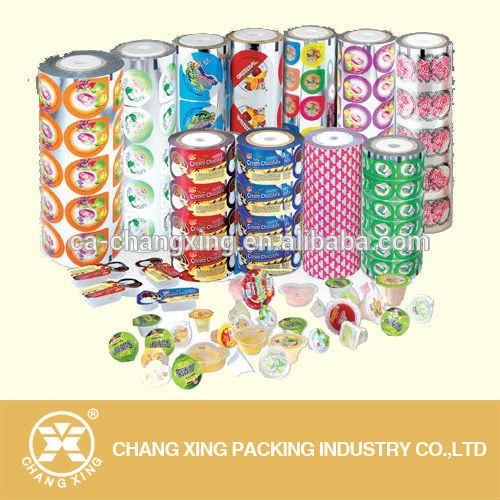 Custom printed plastic laminated packaging foil film for medical food packing