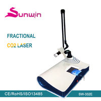 home use co2 fractional laser for wrinkle spot scar pigment removal equipment/medical fractional co2 laser machine(SW-332E)
