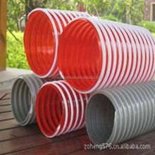 "Helix Suction Water Hose Grey 3/4"" , 1-1/2"" , 3"" 8"" Inch Flexible PVC Industrial Farming Pipe"