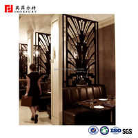 Custom design decorative laser cut stainless steel screen metal room divider office wall partition