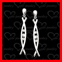 charm 925 silver earrings