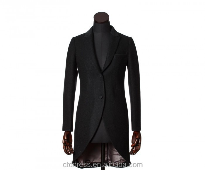 2015 new style 100% cashmere black coat custom made women clothing manufacturers overseas