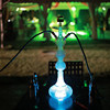 Large size heat resistant glass hookah shisha with remote control LED OEM ODM hookah 988 ml glass