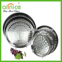 Stainless steel tray Printing style round dish