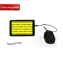 VD700 7 inch portable video magnifier for older poor sight people 2X-60X zoom magnifier