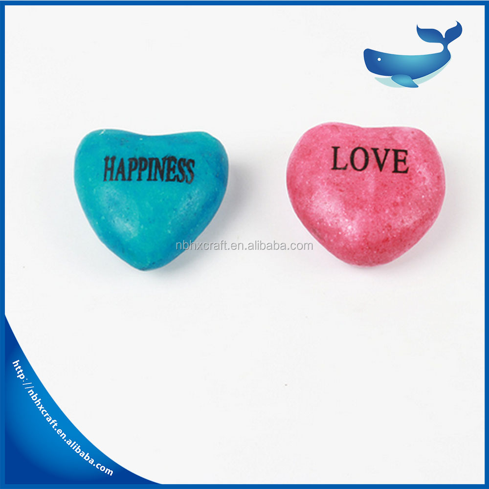 Colourful Natural Multi color Heart-shaped Marble Stone for Valentine' Day