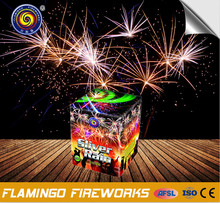 big silver rain fireworks 25s cake for wholesale