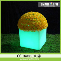 led vase with color changing by rechargeable battery/outdoor large plastic planters led