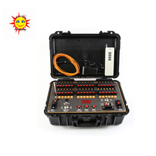 36 cues remote control sequential fireworks firing system with waterproof case