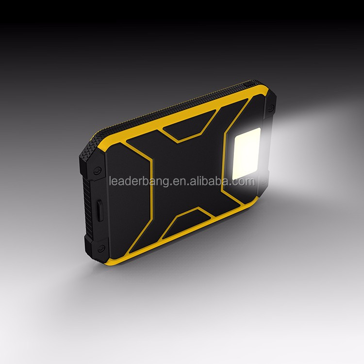 Led illumination Waterproof solar power bank 8000mah emergency charge for cmaping hiking