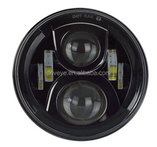 "7"" LED Hi-Lo Beam Round Headlight For JEEP Wrangler JK LJ TJ"