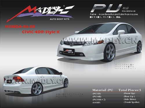 PU body kits for 06-08-CIVIC