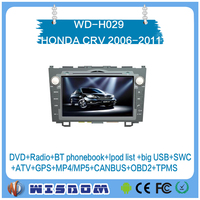 New car multimedia system for HONDA CRV 2006 2007 2008 2009 2010 2011 dvd player 8 inch rear camera support wifi bluetooth swc