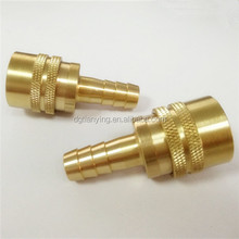 DME brass hose barb connector quick coupling