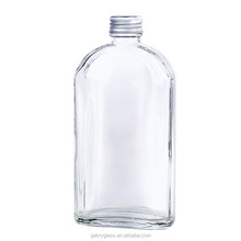 Wholesale <strong>Flat</strong> Square Clear Empty 50ml 100ml 200ml Glass 16oz Juice Bottle