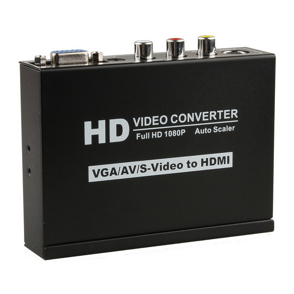Hot Sale S-video VGA RCA to HDMI Converter1080p Scaler