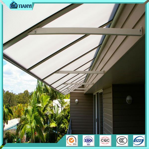 Diy Outdoor Sunshade Polycarbonate Plastic Roof Pergola Awning Canopy