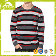 Factory custom sweater man Stripe Sweater