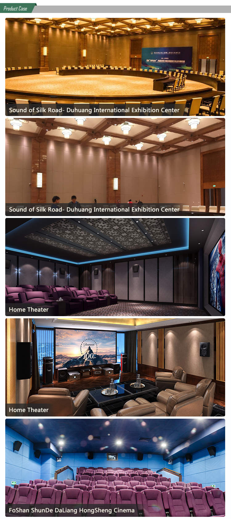 Music recoding room decorative sound absorbing fabric acoustic studio panel