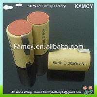 nimh battery pack 2.4v 1.2v rechargeable battery Nimh SC 3000mAh for makita power tools nimh battery with tab