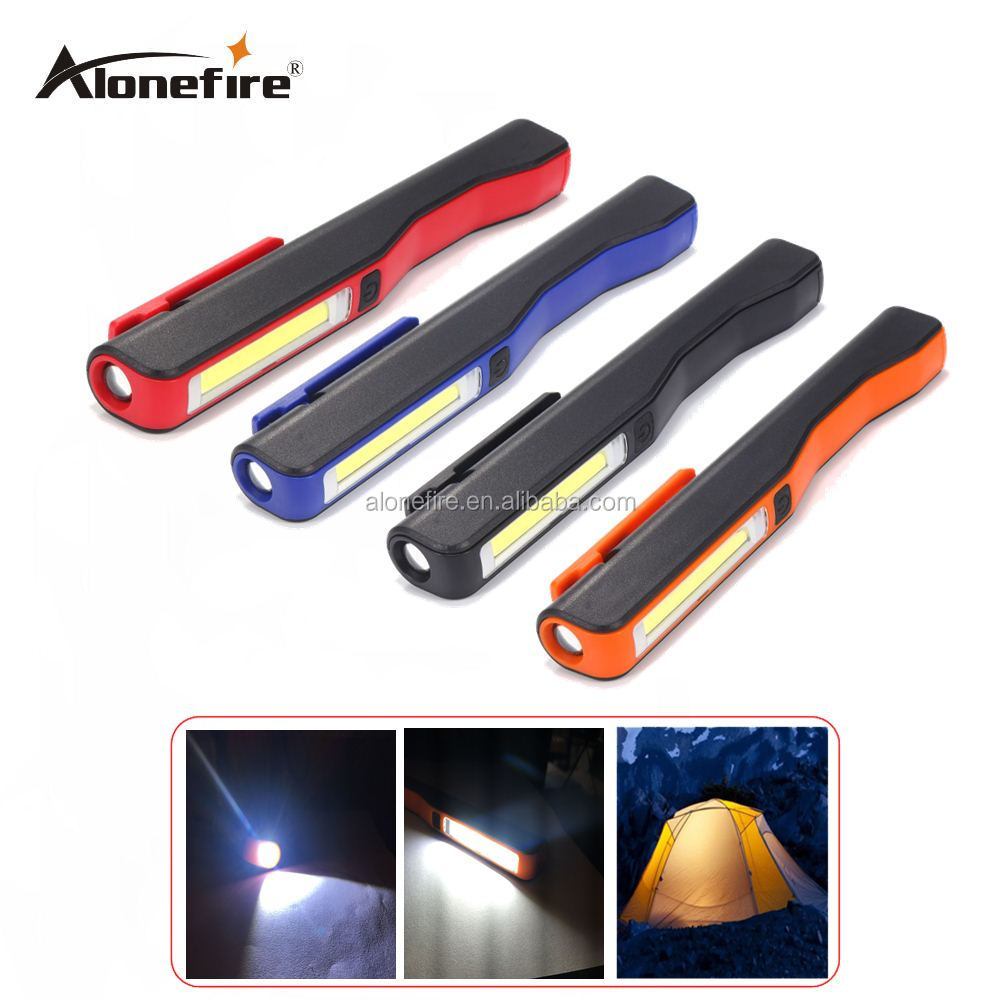 AloneFire <strong>C018</strong> Mini Inspection Lamp COB LED USB Rechargeable Magnetic Pen Clip Hand Torch Flashlight Work Lights