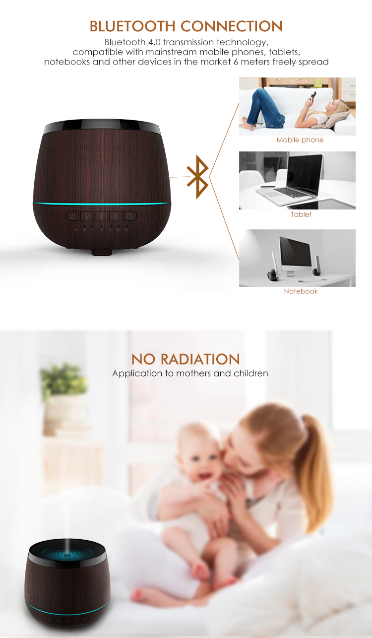 New 200ml Cool Mist Ultrasonic Humidifier Essential Oil Aroma Diffuser