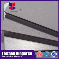 Alucoworld acm aluminum composite material water resistant wall 4-6mm interior wall acp panel