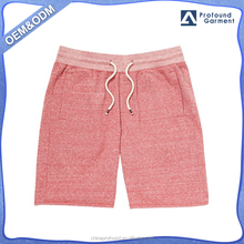 Fashion slub yarn jersey short elastic waist shorts for men