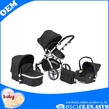 Aluminium tube baby stroller 3 in 1china manufactured baby kids jogger stroller