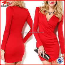 Ladies Good Quality Cotton Colorful Simple Design Tight Dress modest sexy dresses of middle aged women fashion dress