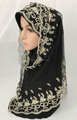 new designs fashion lace two peices muslim hijab scarf (inner hijab can wear seperate) wedding hijab ML0670