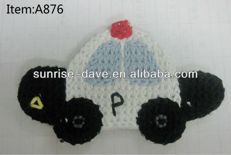 crochet police car patches