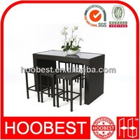 Factory Manufacturer Direct Wholesale china wholesale hot sale 7 piece resin rattan bar dining sets