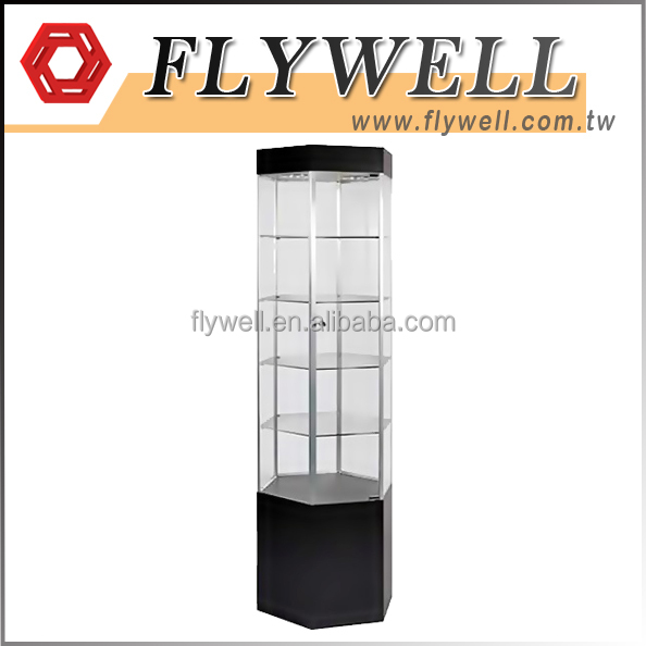 Glass Store Mobile Phone Jewelry Display Cabinet Showcase