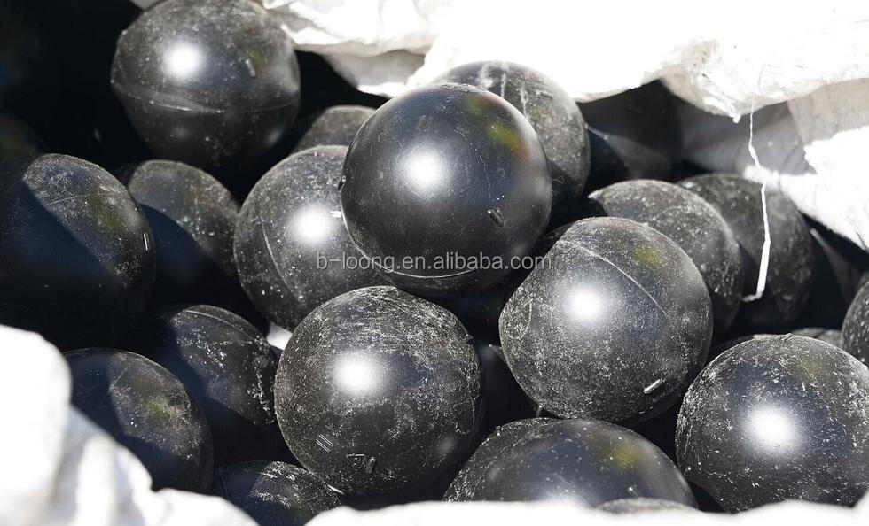 "black 4"" hollow plastic balls for large void space"