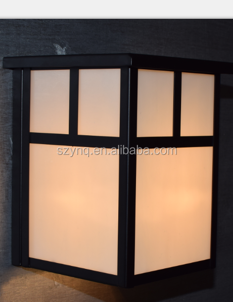 Outdoor Sconce with Marble Effects White Frosted Glass and Painted Bronze for Home House Lighting Decorative Wall Single Light
