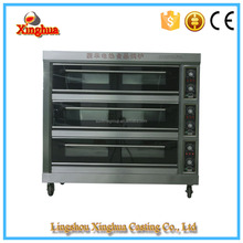 Commerical stainless steel electric baking pizza oven prices 3 Deck 9 trays for sale