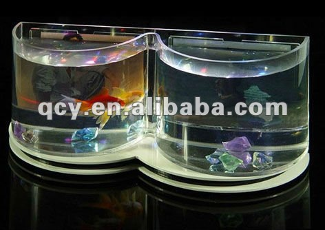 new clear two semi circles Acrylic Fish Aquarium ,Acrylic Fish Bowl