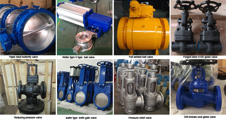 Big size metal seated Flange Triple Eccentric Butterfly Valve