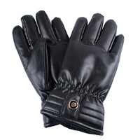 NEW PRODUCTS MOTORCYCLE GLOVE BLACK COOL WATERPROOF FUR LINED LEATHER GLOVE