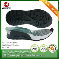 pu+rubber breathable light women running shoe sole