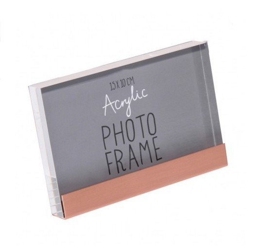 4x6''Acrylic photo frame acrylic picture frame with metal base