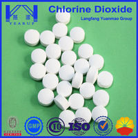 Purifier indoor environmental stabilized chlorine dioxide tablet/powder