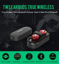 2017 new products TWS connect to 4.1 Bluetooth Earphone with Microphone Bluetooth earbuds for airpods