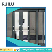 10 years warranty China supplier double glazing aluminium alloy sliding doors, glass doors