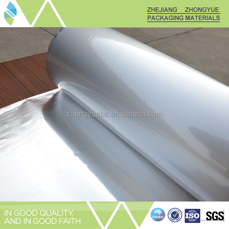 Good Quality AL+PET Industrial Aluminum Foil apply for bubble wrap lamination
