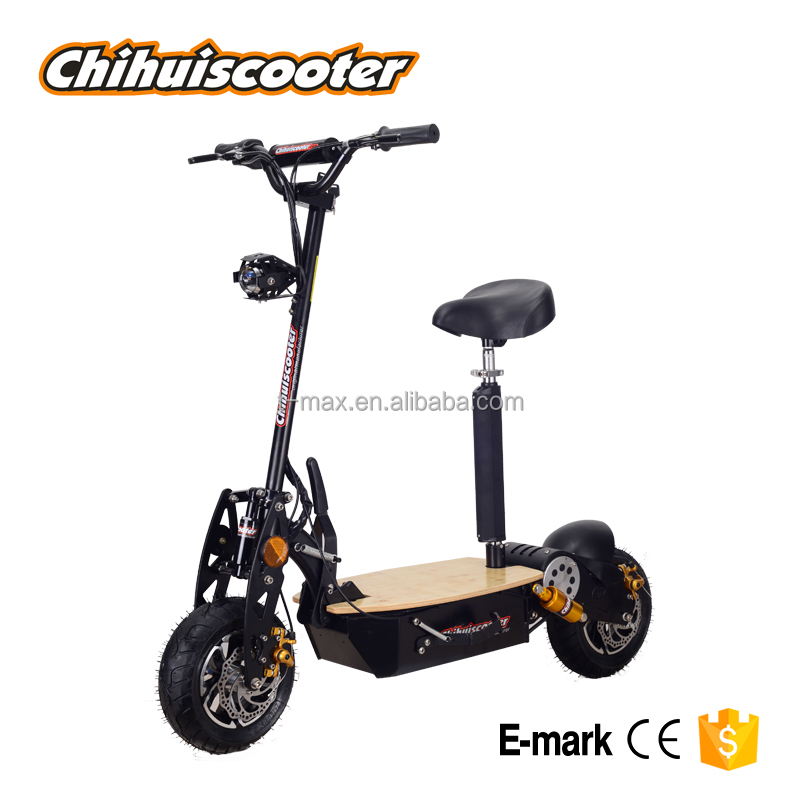 1600W electric scooter with LED headlight and taillight