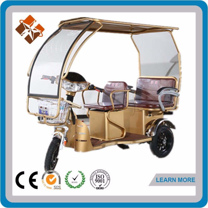 48v 30ah battery operated mini e rickshaw for adult pick up children after school