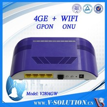 Wireless 4 Gigabit Ports Wifi FTTH BCM6838 GPON ONT 1GE WiFi