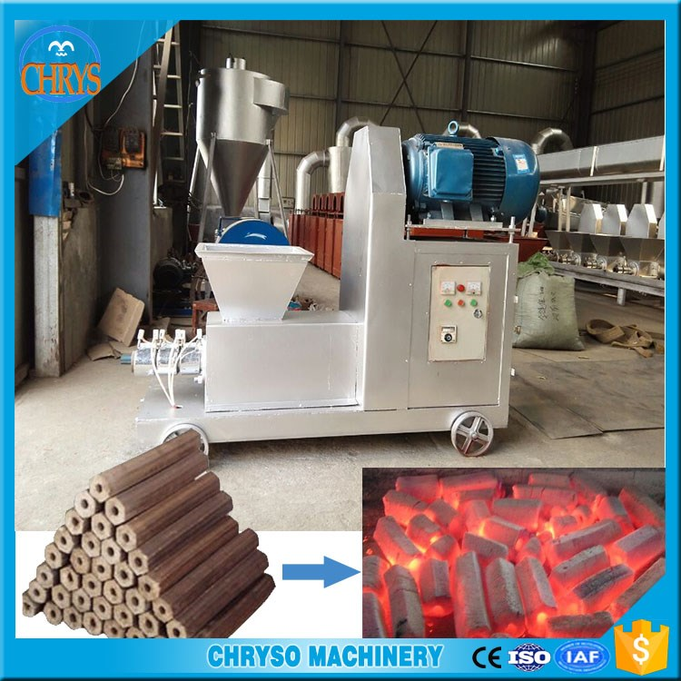 Wood, bamboo, straw, roots,leaves charcoal briquette making machine with reasonable price